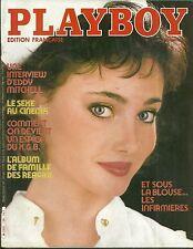 MAGAZINE - PLAYBOY 1983/ EDDY MITCHELL FRANK ZAPPA FAMILLE REAGAN SEXE AU CINEMA