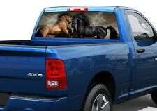 2 Two horses Rear Window Decal Sticker Pick-up Truck SUV Car #12