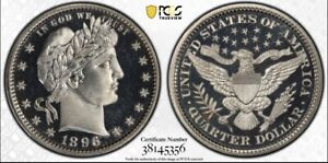1896 Barber Quarter PCGS PR67 DCAM CAC UNIQUE