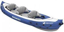 Inflatable Kayak Canoe Boat 3 Man Person Seat Adjustable Straps Fishing Kayaking