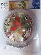 """Indoor/Outdoor Thermometer 6"""" diameter Bird Design #5632  NEW"""