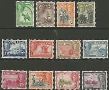 Gold Coast GVI 1948 full set mint cat val £85