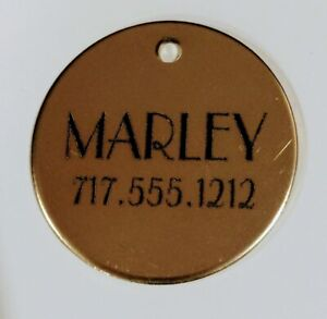 Stainless small Pet ID Tag, Personalized, Great for cats and small dogs 3/4 inch