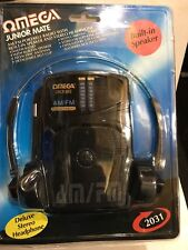VINTAGE OMEGA RADIO BAND MW(-AM) - FM. Built In Speaker And HEADPHONES