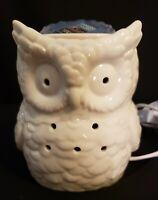 YANKEE CANDLE White Owl Electric Tart Wax Melt Warmer  NEW IN BOX w/free tart