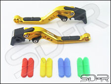 Suzuki Vstrom 650 DL650 2011-2016 SDR RCI Short Adjustable Levers GOLD