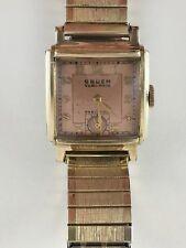 Gruen Veri-Thin Precision men dress wristwatch manual wind Speidel band vintage