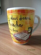 Top Teacher mug, Life is about dreams. History & Heraldry