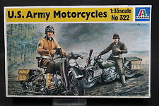 XX050 ITALERI 1/35 maquette 322 US Army Motorcycles moto USA motocyclette 1995