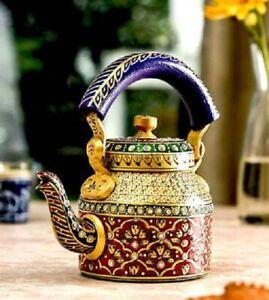 Aluminum Handpainted Kettle Tea Pot Home Decor Traditional Showpiece kettle 1L