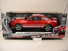 SHELBY DIECAST METAL 1:18 SCALE RED 2010 FORD SHELBY GT500 MUSTANG