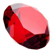 40mm Red Diamond Shaped Crystal Glass Art Paperweight Wedding Favor Shower AM8