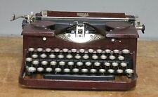 Antique MAHOGANY wood grain ROYAL Model P Typewriter from 1931 Gull Wing
