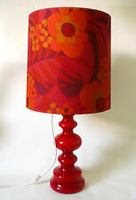 70s Lampada da tavolo POP ART VETRO 84 cm Big Flower Power BUBBLE glass lamp ANNEES 70