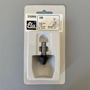 Elu E45664 HM TCT <30° Bevelled Router Bit Cutter 8mm Shank D:24mm I:12mm