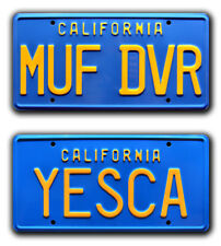 Cheech & Chong Up in Smoke | MUF DVR + YESCA | Metal Stamped Prop License Plates