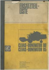 Claas Combine Dominator 80 & 85 Parts Manual - ORIGINAL