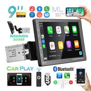 9 Zoll 1Din Autoradio D-Play Abnehmbarer Touchscreen MP5 Player Bluetooth FM USB