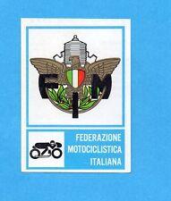 CAMPIONI dello SPORT 1973/74-Figurina n.206-MOTOCICLISMO -STEMMA FEDERAZIONE-Rec