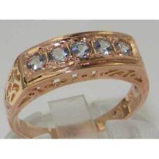Luxury 9ct Rose Gold Aquamarine English Eternity Band Ring