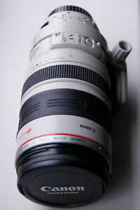 Canon EF 100-400mm F4.5-5.6 L IS USM Lens with case, hood and UV filter