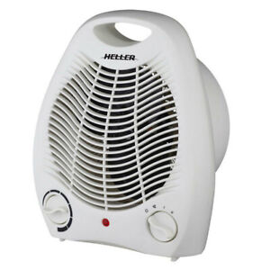 Heller 2000W Upright Electric Fan Heater Room/Floor Adjustable Thermostat White