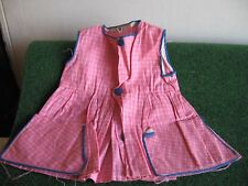 ROBE TABLIER  ROSE A POCHES    CART21