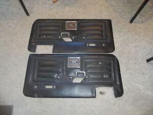 1970 70 Cougar Deluxe Decor Eliminator Door Panels Black  Pair L & R PR DECENT
