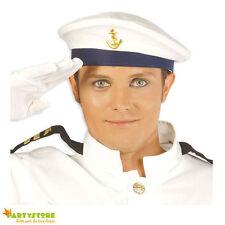 cappello marinaio berretto marina con ancora travestimento carnevale 7e016e29cb94