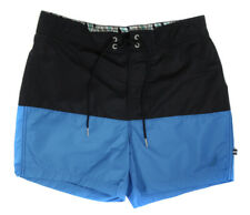 Nautica Men's Turquoise Black Meridian Swimwear Swim Shorts Trunks Ret 69.50 New