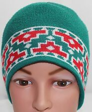 MOUNTAIN LADIES & EWE, MADE IN USA, TEAL ACRYLIC KNIT BEANIE HAT, ONE SIZE! GUC!