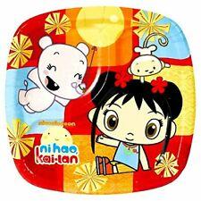 "Ni Hao, Kai-Lan Cartoon Nick Jr TV Kids Birthday Party 7"" Square Dessert Plates"