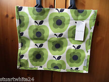ORLA KIELY GREEN APPLES PRINT JUTE SHOPPING BAG FROM TESCO - NWT 2016 LTD ED