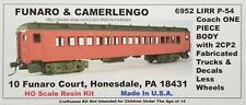 Funaro F&C 6952 LONG ISLAND P-54 Passenger LIRR COACH Car 1-PIECE w/ 2CP2 TRUCKS