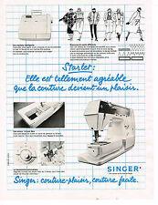 PUBLICITE ADVERTISING 014   1979   SINGER   machine à coudre STARLET