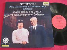 CLASSICAL AUDIOPHILE LP- BEETHOVEN EMPEROR SERKIN/OZAWA- TELARC DIGITAL DG-10065