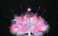 Zapato, Bolso de mano con cuentas, plumas Personalizado Cumpleaños Cake Topper, Personalizados