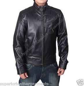 Bourne Legacy Real Black Leather Jacket Jeremy Renner Aaron Cross Vintage BNWT