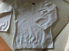 Marca BERSHKA (by Zara) - Camiseta Blanca Manga 3/4 Talla M / White Top Shirt