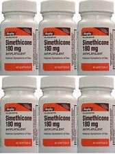 Rugby Simethicone Gas Relief 180mg (Compare to Ultra Strength Phazyme) 60ct- 6pk