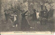 Rare Postcard, Dance, Dans Bourbonnais