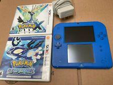 Nintendo 2DS Console Bundle Pokemon X + Pokemon Alpha Sapphire 3DS Games