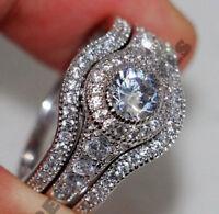 14k white gold over 2 ct d diamond engagement ring wedding band bridal set 3 pcs