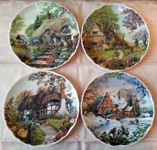 Royal Albert  serie completa 4 piatti porcellana inglese Dream Cottages Stagioni