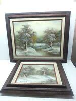 Vintage Signed C. Inness Scene Landscape Painting Clara Inness Framed