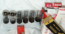 6 NOS NIB 5V4G 5V4GA = 5V4 / GZ32 RCA SYLVANIA RAYTHEON TUBES  PERFECT MADE USA