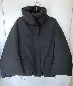 [Sold Out] Jil Sander Uniqlo +J Women Hybrid Down Jacket -  BLACK. Size Large