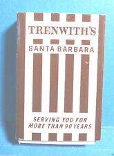 """Vintage """"Trenwith's"""" Box of Matches Santa Barbara, California"""
