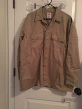 Dickies Long Sleeve Men's Work Shirt Casual Top Sz XL Khaki Clothes