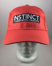 Instinct Commercial Faucets Orange Trucker Hat Cap - NEW - Hook & Loop Closure